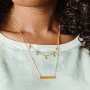 fosterie layered gem necklace